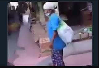Kemiskinan, Video Nenek Ditendang dan Diseret di Pasar Gendeng Yogyakarta