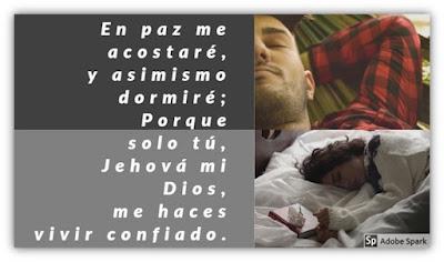 Reflexión: En Paz me Acostaré y asimismo Dormiré. Versículo, el Secreto y una Oración.