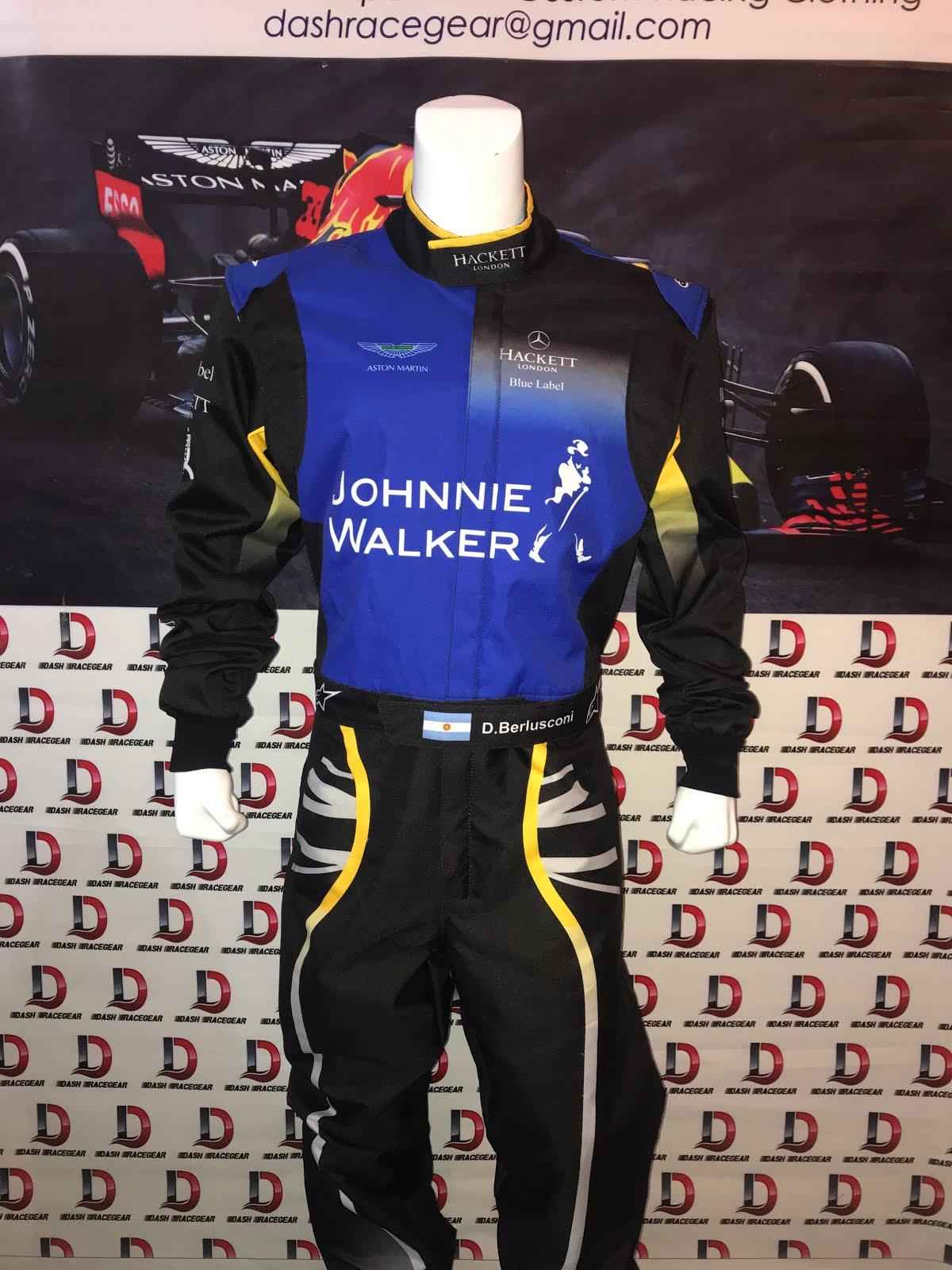 Johnni Walker Go Kart Race Suit CIK//FIA Level 2 Karting Suit Karting Race Gloves