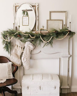 Thrifted finds to create a holiday themed mantel