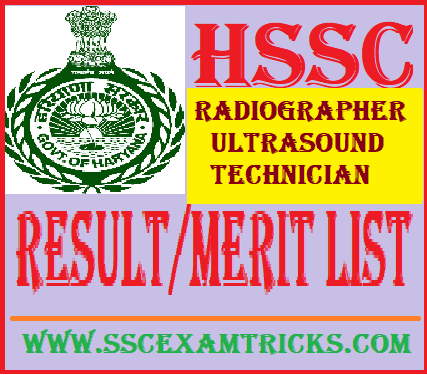HSSC Radiographer/Ultrasound Technician Result