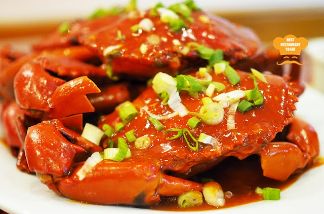 Pan Fried Hot and Sour Mud Crab With Mantou.