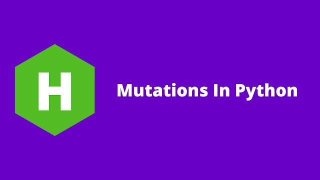 HackerRank Mutations in python problem solution