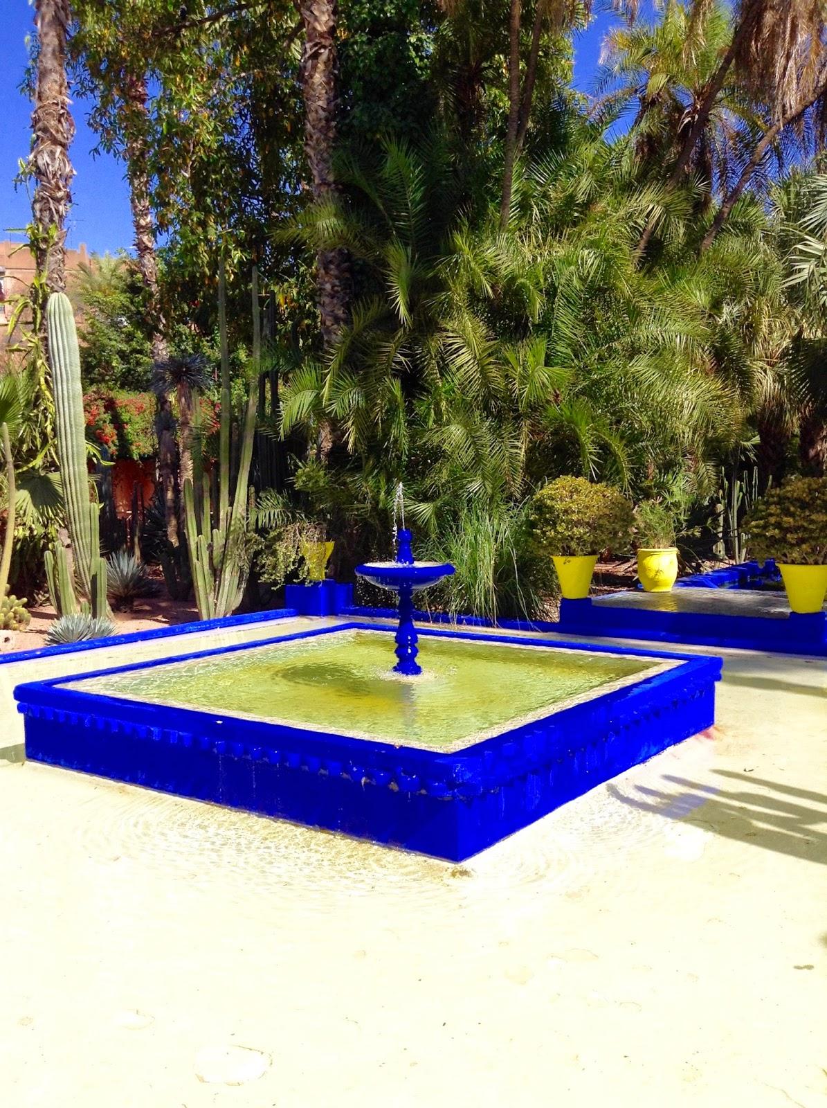 Fontaine jardin Majorelle