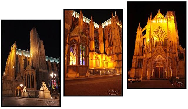 Catedral de Metz de noche