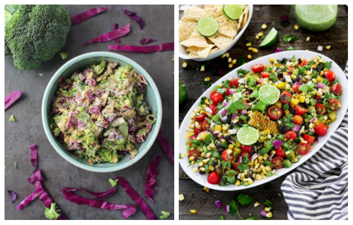 Photo of Easy Vegan Broccoli Slaw and Summer Grilled Corn Salad