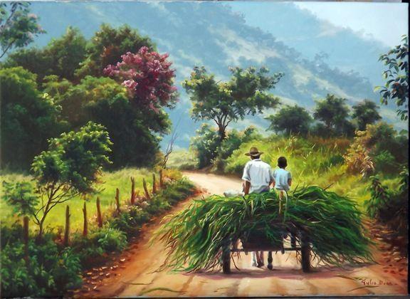 Gambar Keindahan Alam HD Sawah di Desa