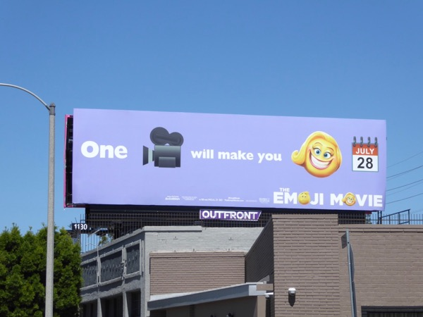 make you smile Emoji Movie billboard