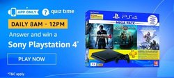 Amazon Quiz 6 December 2019 Answer Win - Sony Playstation 4