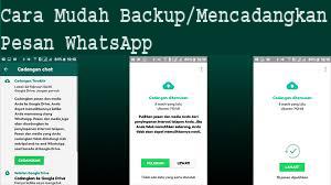 Cara Mudah Backup/Mencadangkan Pesan WhatsApp 1
