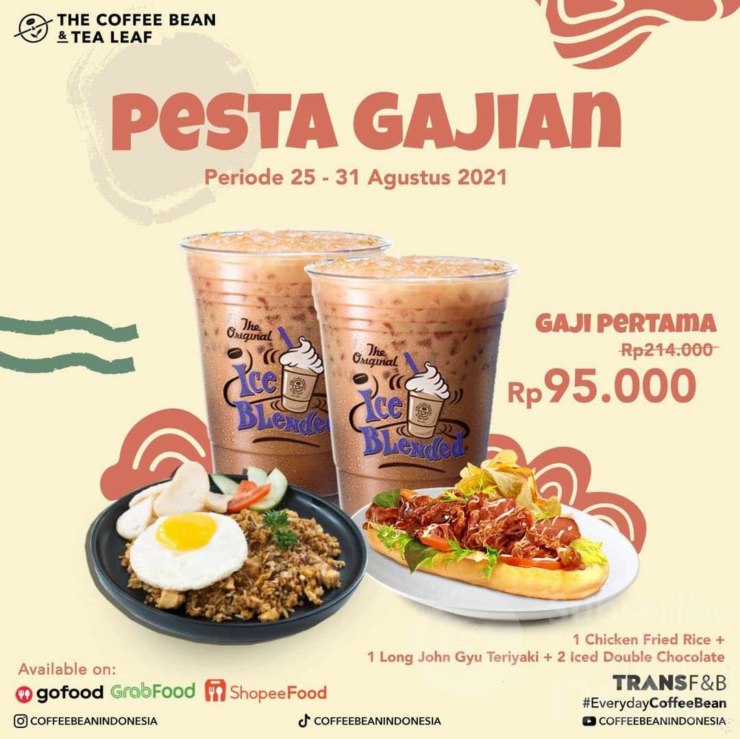 Promo Coffee Bean Pesta Gajian Periode 25-31 Agustus 2021