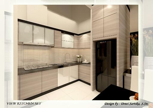 gambar desain kitchen set