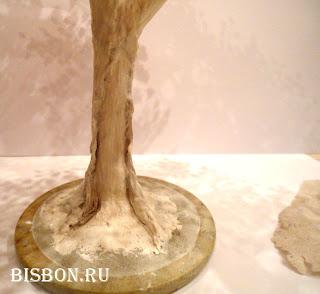 Гипсовый ствол для дерева из бисера. Мастер-класс