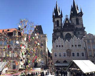 La vieille-ville, Notre-Dame du Tyn, Prague