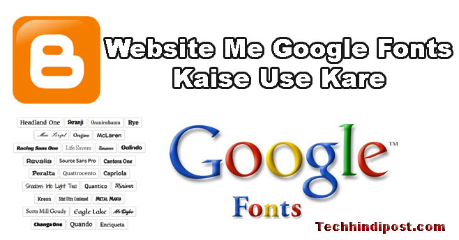 Blog me Google Fonts Kaise install kare