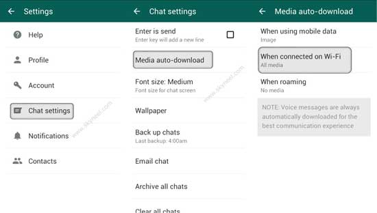 how to disable auto save media whatsapp android