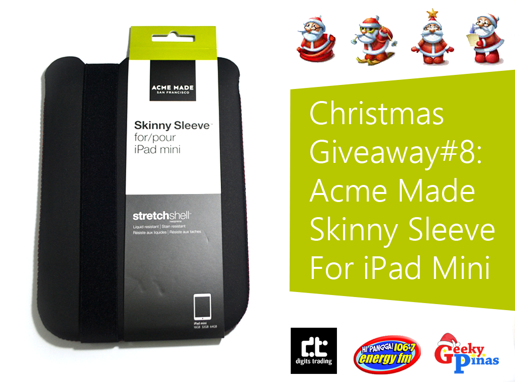 Christmas Giveaway #8: Acme Made Skinny Sleeve For iPad Mini Priced At Php 1,350
