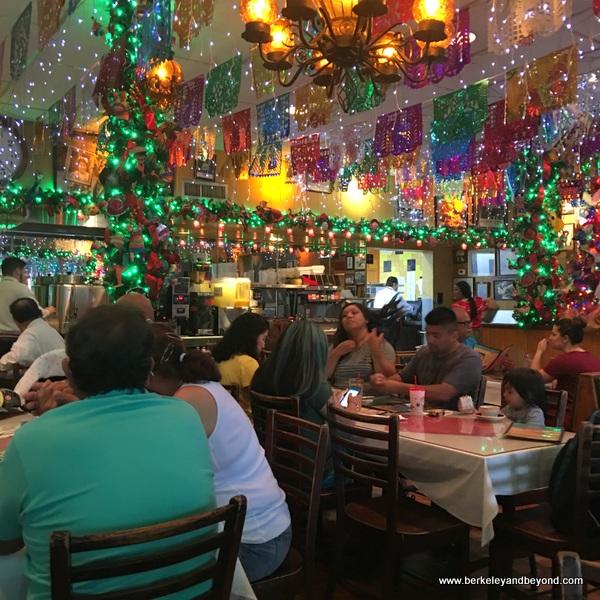Christmas decor at Mi Tierra Cafe y Panaderia at Market Square in San Antonio, Texas