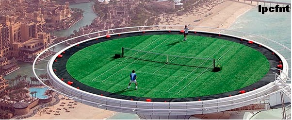 Dubai trying to build an under water tennis court let 39 s for How to build a sport court