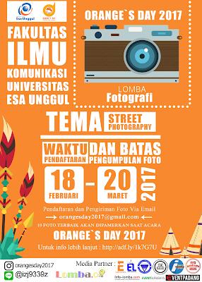 Lomba Fotografi Orange's Days by Univ Esa Unggul