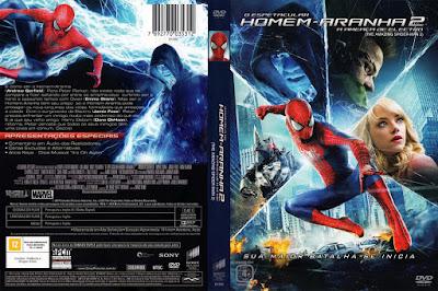 Filme O Espetacular Homem-Aranha 2 - A Ameaça de Electro (The Amazing Spider-Man 2) DVD Capa