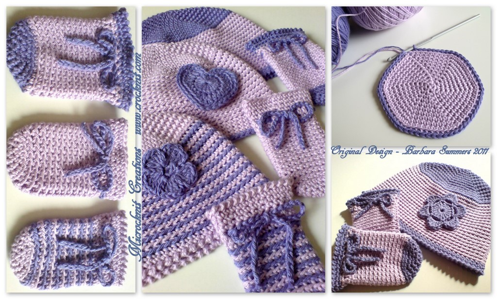 Microcknit Creations Newborn Crochet Hats And Mittens