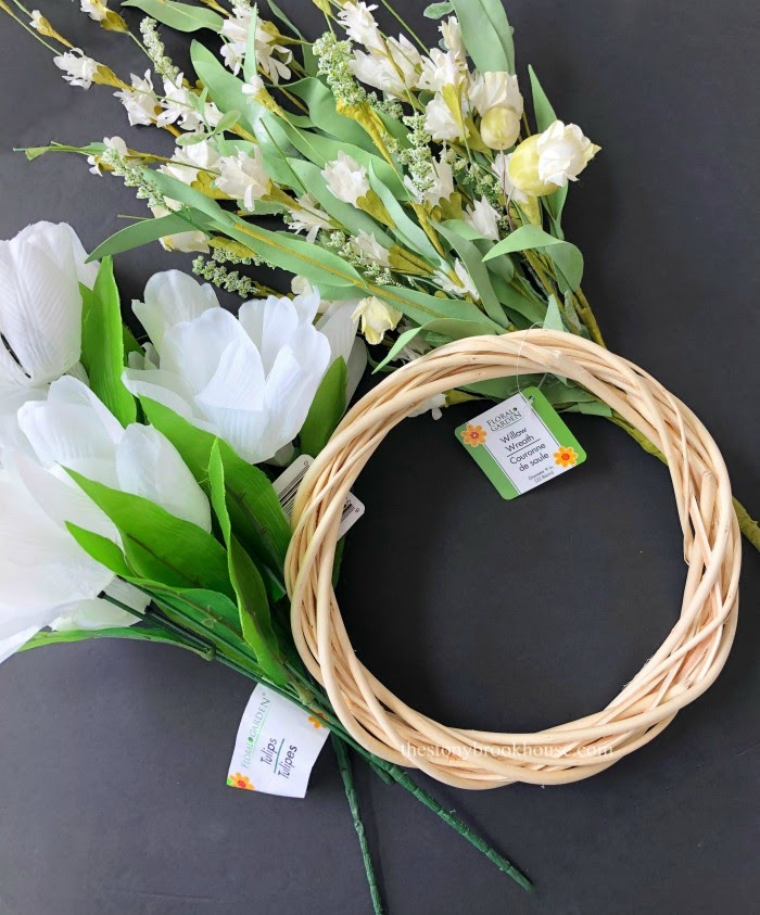Supplies for tulip wreath update
