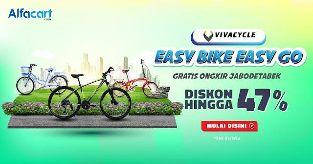 #Alfacart - #Promo Beli Sepeda Vivacycle Dapat Diskon Ongkir Hingga 47% (s.d 30 Okt 2019)