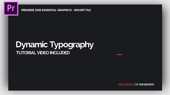Videohive Dynamic Minimalism - Essential Graphics | Mogrt 21637324 - Premiere Pro