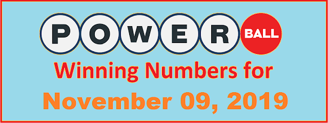PowerBall Winning Numbers for Saturday, November 09, 2019