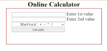 how to create a calculator using html and php