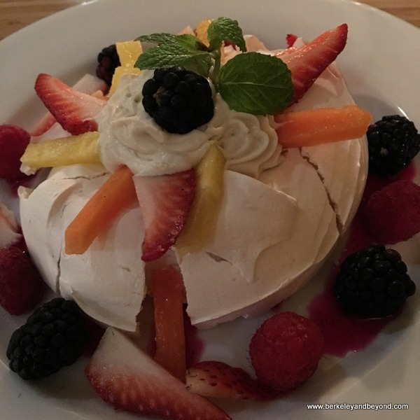 Pavlova meringue dessert at Casa Cubana in Oakland, California