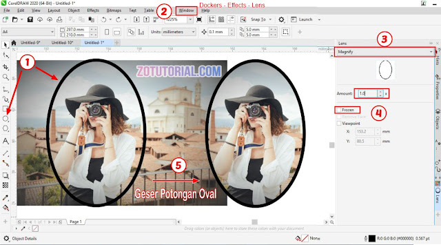 2 Cara Memotong (Crop) Foto Menjadi Bulat di CorelDraw