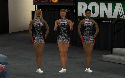 NBA 2K13 Toronto Raptors Cheerleaders Mod