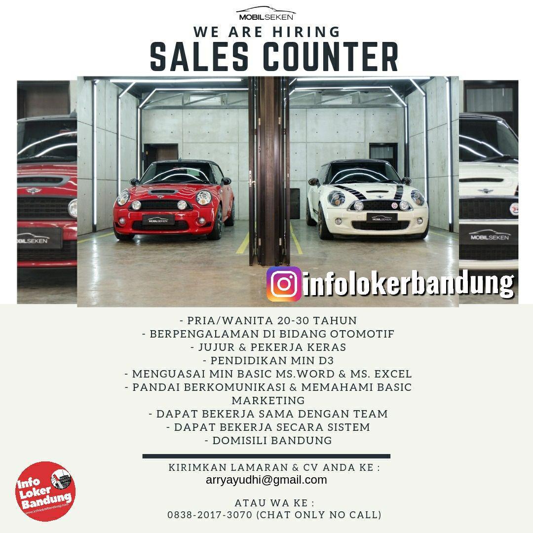 Lowongan Kerja Sales Counter Mobil Seken Bandung Juni 2019