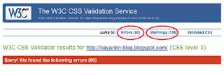 Bagaimana Cara Mengetahui Error CSS pada Template Blog