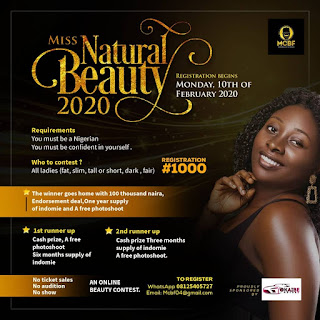 Registration For Miss Natural Beauty Online Contest Has Begun (See How To Participate And Win Big