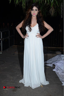 Telugu Actress Model Sony Charishta Pos in White Long Dress at Nanna Nenu Na Boyfriends Audio Launch  0210.JPG
