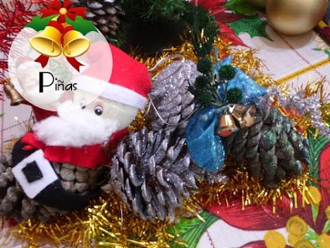Piñas para decorar el árbol