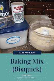 Make your own baking mix (Bisquick)