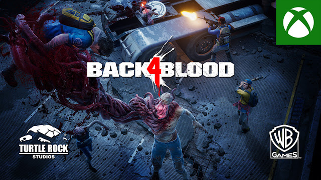back 4 blood b4b pvp multiplayer swarm mode gameplay reveal trailer first-person co-op zombie shooter turtle rock studios warner bros interactive entertainment pc steam ps4 ps5 xb1 xsx xbox & bethesda showcase 2021