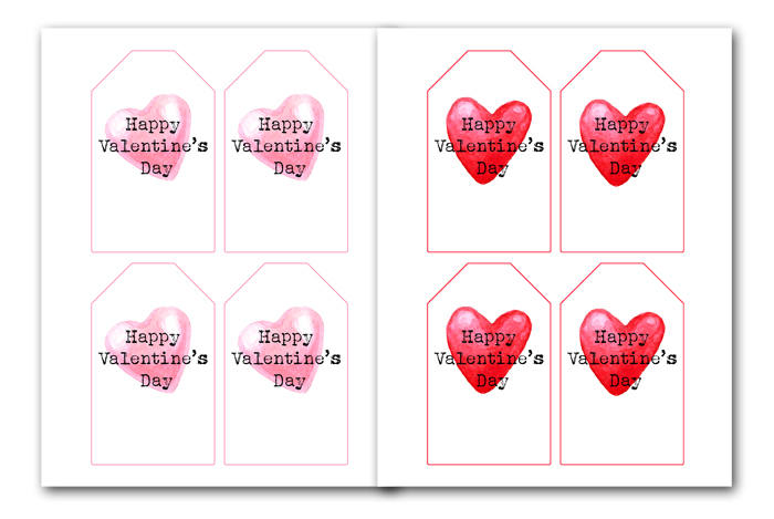 Gift Tag Printables for Valentines