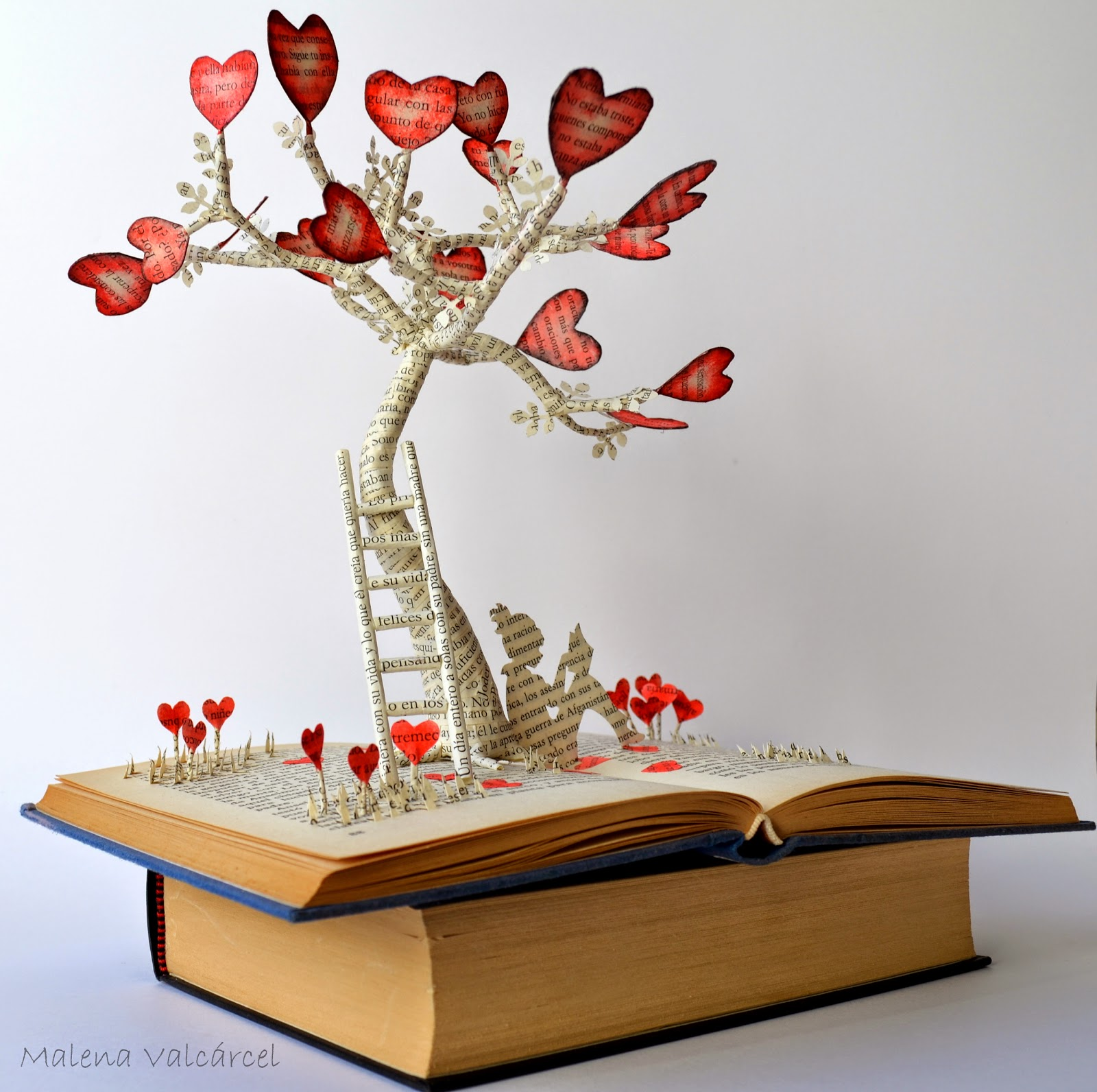 Art For Book Lovers Malena Valcárcel Original Art El árbol Del Amor