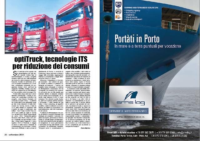 SETTEMBRE 2019 PAG. 22 - optiTruck, tecnologie ITS per riduzione dei consumi