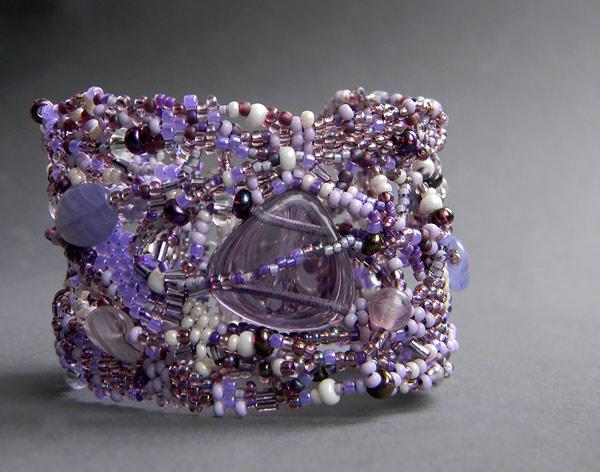 freeform beadwork free form peyote bracelet beadweavung jewelry anabel