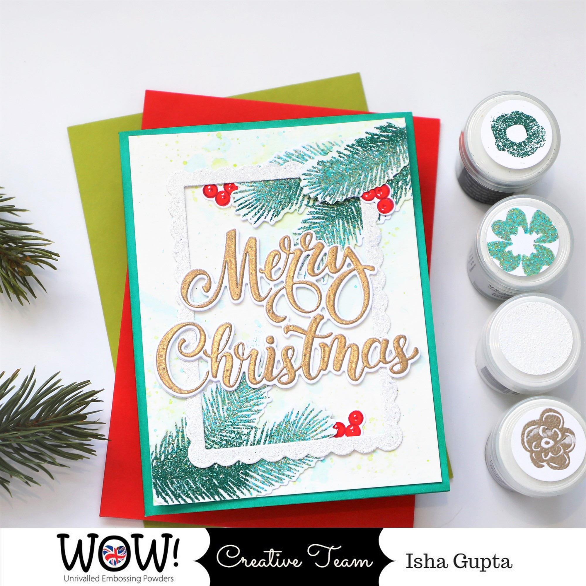 2020 Wow Christmas Card Isha's Creative Nook: WOW! Embossing Powder   Merry Christmas Card