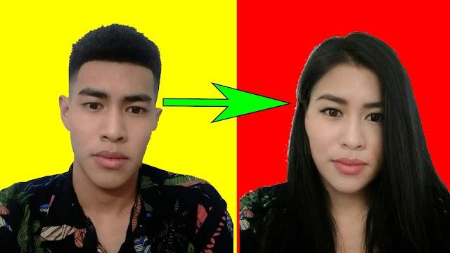Hướng dẫn biến ảnh Nam thành Nữ trend Facebook - chỉnh ngay trên điện thoại
