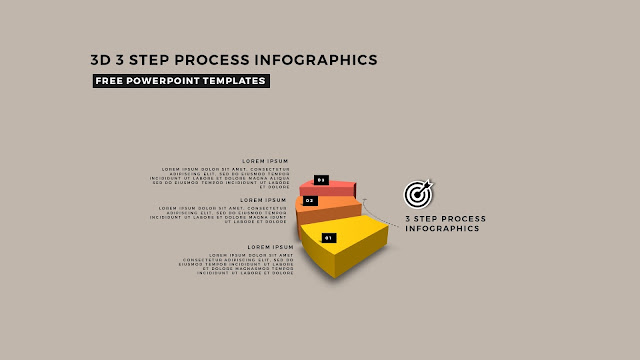 Multi Step 3D Circular Process Diagram Infographic Free PowerPoint Template Slide 3