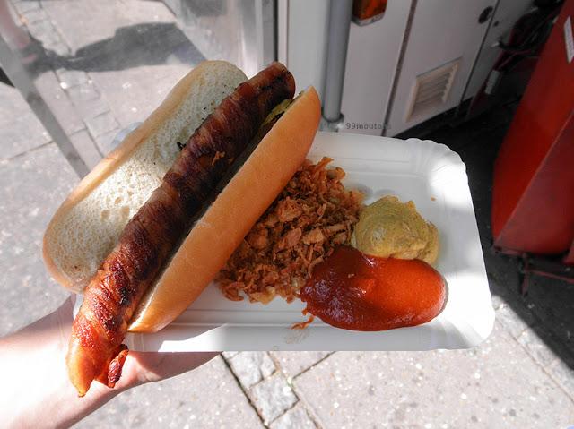 hot-dog moutarde et ketchup à copenhague